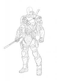 Small Picture People Printable Deathstroke Coloring Pages Arkham Origins in