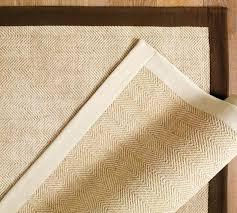 pottery barn chenille jute rug espresso edge chevron color bound new heathered indigo