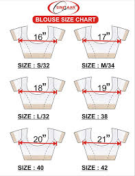 Blouse Size Chart Singaar Readymade Blouse For Women Stitched Saree Blouse