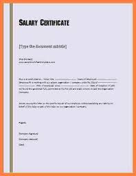 10 Inspirational Salary Certificate Format In Word Todd Cerney