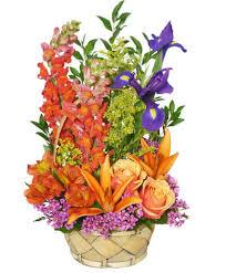 multi color memories flower arrangement