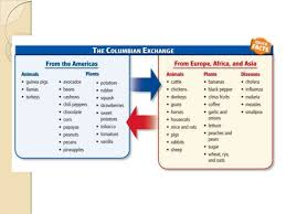 the 3 effects of the columbian exchangedifferent foodsiuml130151 exchange