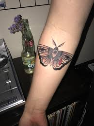 My Crying Moth By Joey Johnson Of Aces High Tattoo Fl Tattoos
