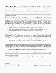 Dental Resume Template Technician Sample Http Www Resumecareer Info