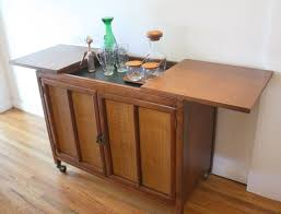 hidden bar furniture. Mcm Hidden Bar Cabinet With Rattan Doors 1 Furniture