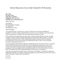 Cover Letter For Human Resources Human Resources Cover Letter Sample