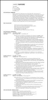Resume Specialist Magnificent Free Professional QA Specialist Resume Template ResumeNow