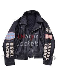 sel vintage biker patches black jacket