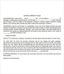warranty template word warranty deed form 10 free word pdf documents download free