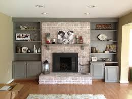 refacing brick fireplace painting red brick fireplace whitewashing brick fireplace