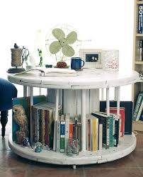 view in gallery diy spool library coffee table