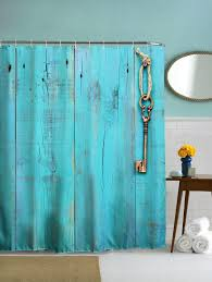 polyester shower curtain with hooks for bathroom turquoise cm cm