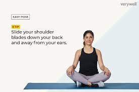 how to do easy pose sukhasana