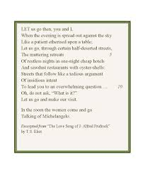 the lovesong of j alfred prufrock essay the love song of j alfred prufrock essays