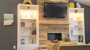 pallet fireplace surround