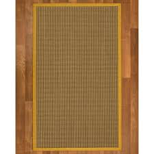 natural area rugs crossroads sisal handmade tan border rug custom
