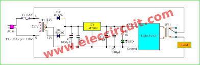 daylight sensor switch circuit control artificial waterfall 2 block diagram and 9 volts dc regulation of daylight sensor switch circuit