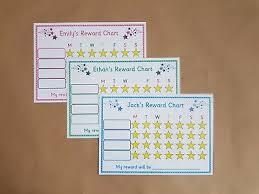 Mealtime Reward Chart Childrens Personalised Reward Chart