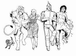 Small Picture Wizard of Oz Coloring Pages Collections Gianfredanet