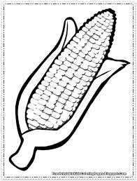 Corn Coloring Pages Printable Thanksgiving Pinterest Coloring