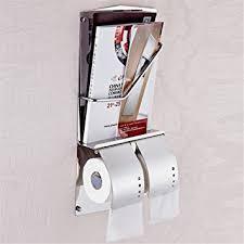 Chrome Toilet Paper Holder Magazine Rack Amazon Weirun Modern Hotel Style Stainless Steel Double 19
