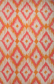 hand tufted tribal pattern wool orangepink area rug 2x3 pink tribal print rug