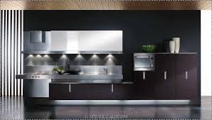 Cabinet And Lighting Stunning Modern Open Kitchen Design With Red Cabinet As Well Black