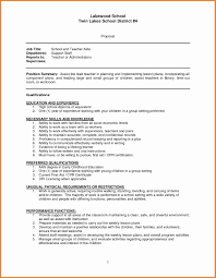 Teachers Aide Resumes Preschool Aide Resume New Physical Education Teacher Resume Best