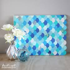 diy mermaid fish scales wall art backdrop mermaids fish and nautical fun are infiltrating the home decor scene you can make your own gorgeous piece of