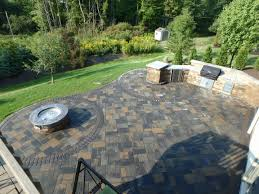 paver patio with gas fire pit. Paver Patio With Gas Fire Pit Outdoor Kitchen That Has A Coyote 36in Grill