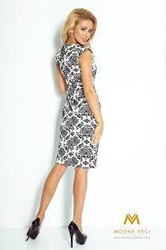 253012 Elegantes Kleid Kapsel 53 18 Schwarzweiss Muster Kleider