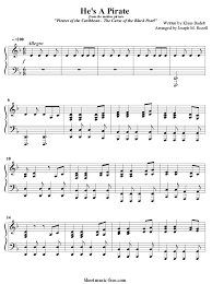 The lord of the rings easy sheet music for alto sax, clarinet, violin, flute, trumpet, tenor saxophone free sheet music for violin. He S A Pirate Piano Sheet Music Pirates Of The Caribbean Sheetmusic Free Com