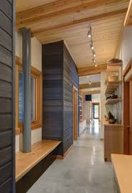 hallway track lighting. Hallway Ceiling Track Lighting On Wooden And Wall Open Shelves Cabinet For Design Ideas