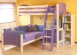 Scallywags Bedroom Furniture Cresta Scallywag L Shaped Bunk Bed Show In Lilac And White Beds