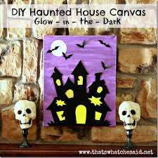 haunted house canvas art