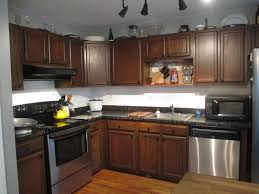 Oak Cabinets Stained Dark Staining Kitchen Cabinets Before And After Glass Door With Oak