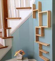 ... Wall Shelves Made From Pallets Thin Strong Wooden Material Square Brown  Stayed Rack Modern Design Varnished ...