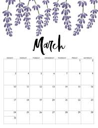 Monthly Blank Calendar Pages March 2020 Printable Template Pdf