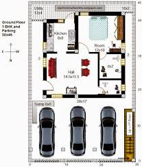 51 r44 1bhk and 2bhk in 30x45 north facing requested plan
