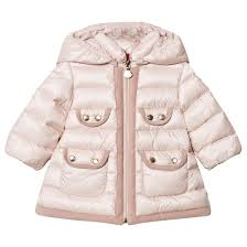 MONCLER BABY GIRLS PINK MAEVANT HOODED DOWN JACKET