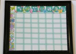 Girls Chore Chart Made Using Cricut Chore Chart Cartridge