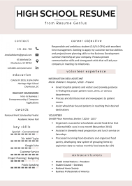 006 Free Resume Templates High School Resumes Perfect For Students