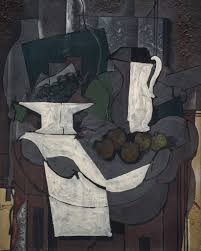 georges braque the bowl of gs oil with pebbles and sand on fine linen canvas 39 x 31 inches x cm