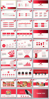 Red Ppt 30 Red Business Powerpoint Presentation Template