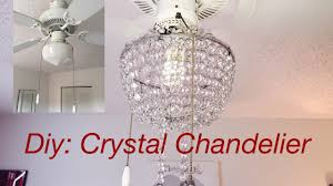diy real crystal chandelier