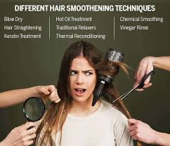 diffe hair smoothening techniques