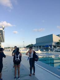 """KK Clark on Twitter: """"We have arrived! Gorgeous pool at Ransom Everglades  high school!… """""""