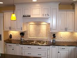 Kitchen Backsplash Ideas With White Cabinets Recessed Lighting And