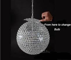 round ball round chandelier ac100 240v d15 to d60cm chandelier modern crystal round ball module 51