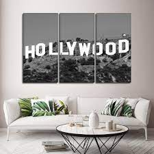 Adhesive base, suitable for exterior or interior 3d sticker wallpaper. Hollywood Sign Multi Panel Canvas Wall Art Elephantstock